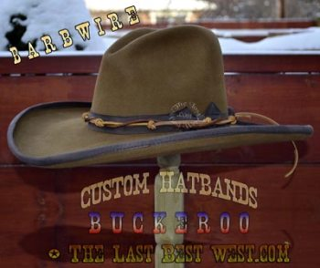 Barbwire custom hatband