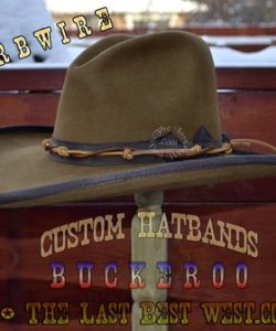 Barbwire custom hat band