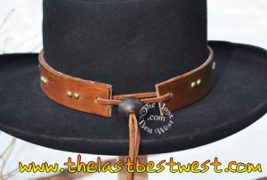 Shotgun Willie leather hat band
