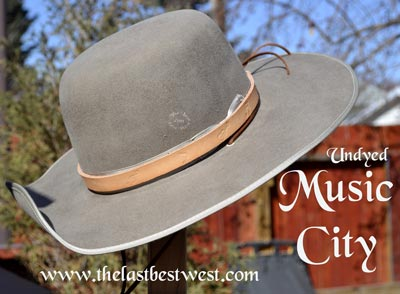 Undyed Music City Custom Hatband