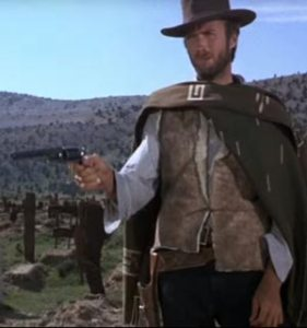 Eastwood as Blondie in the Good the Bad and the Ugly