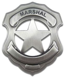 Blank Marshal Badge