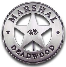 Marshal Deadwood Badge buy two old west badges