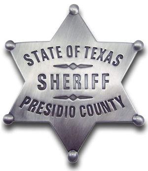 Sheriff Presidio County Badge