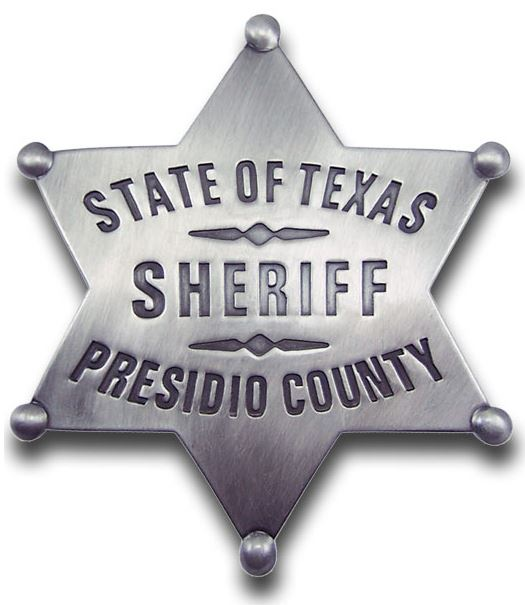 Sheriff Presidio County Badge