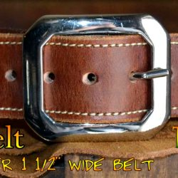 Masterson Hand Made Leather Belt