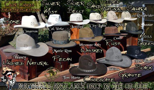 Cowboy Hat colors