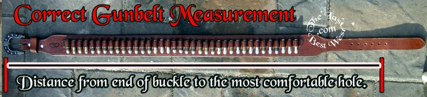 correct gunbelt measurement
