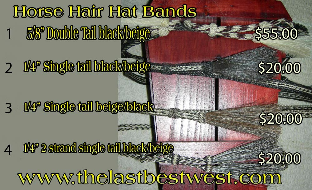 Horse Hair Hat Bands