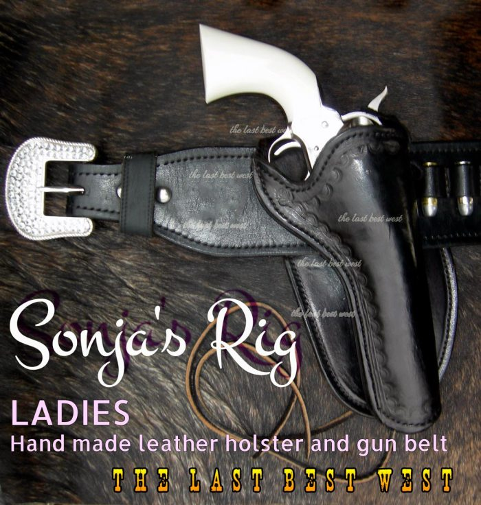 Ladies Hand made leather holster and belt