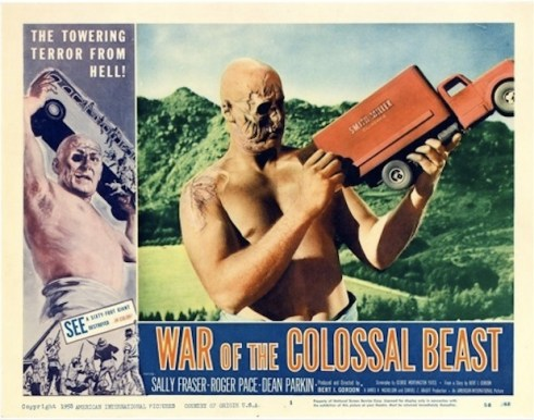 War of the Colossal Beast Lobby Card
