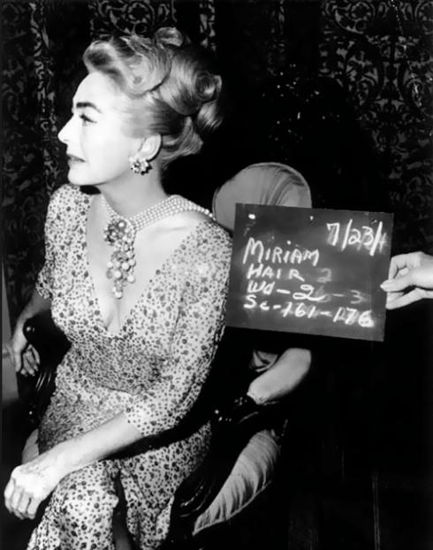 joan crawford on the set Miriam slate