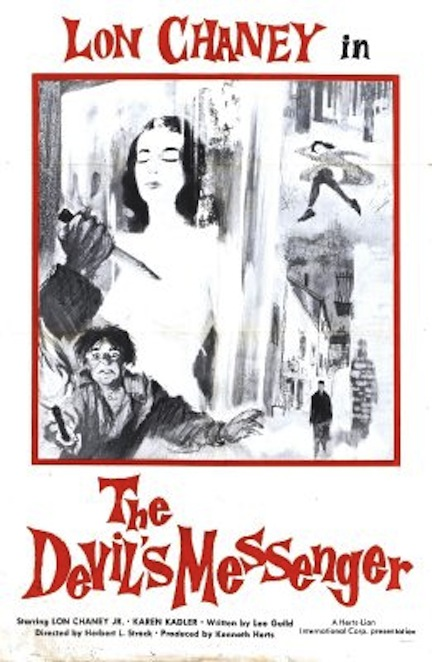 Lon Chaney Jr in The Devil's Messenger poster