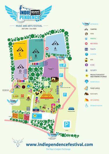 Indiependence 2016 site map