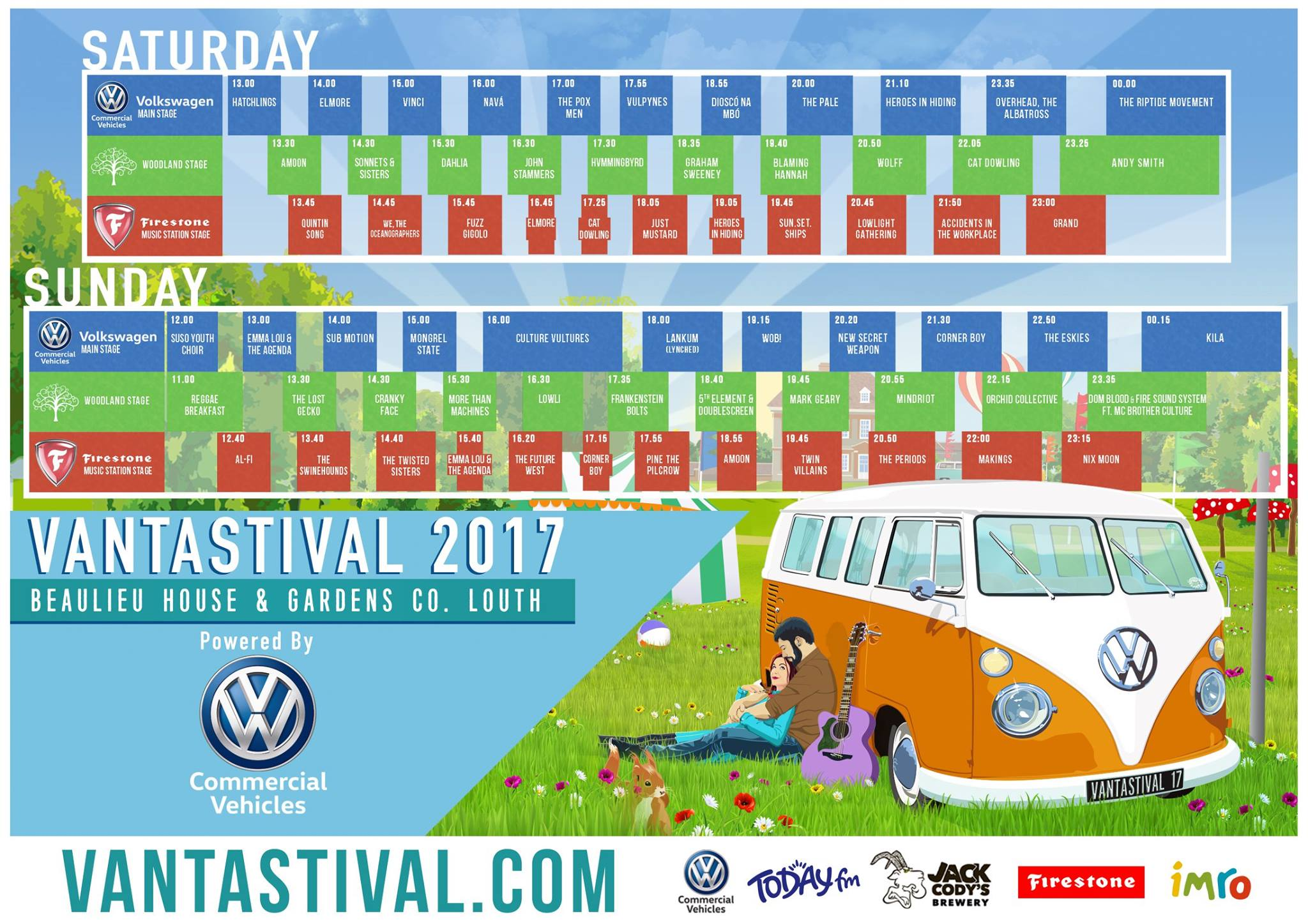 Vantastival 2017 | Stage times announced