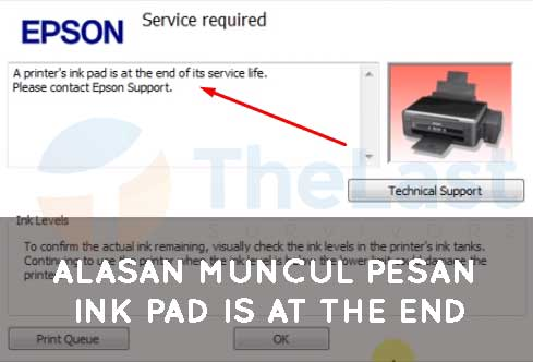 Alasan Muncul Pesan Ink Pad is At the End