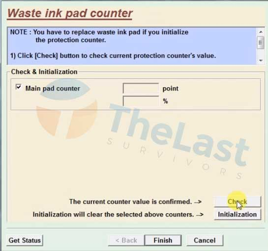Pengaturan Waste Ink Pad Counter