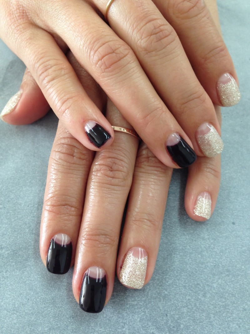 Enamel Diction Los Angeles Half Moon Nail Art La