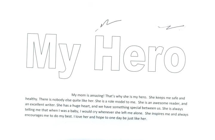 essay of my hero mom docoments ojazlink auhero my mom who s your hero allie smith