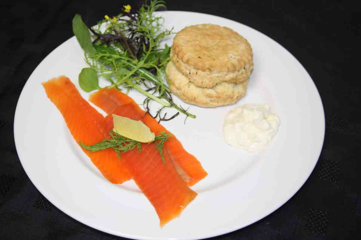 Smoked Trout with Dill Scone and Horseradish Cream by The Late Chef