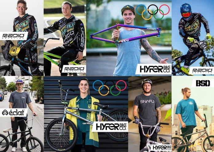 BMX International Sponsored Riders