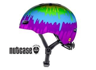 Little Nutty Nutcase Kids Bike Helmet in Tiedye colours
