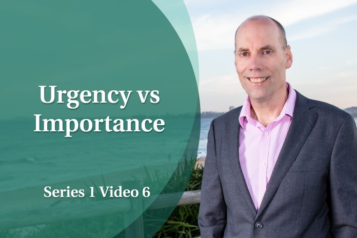 Business Coaching Video: Personal Growth - Urgency vs Importance