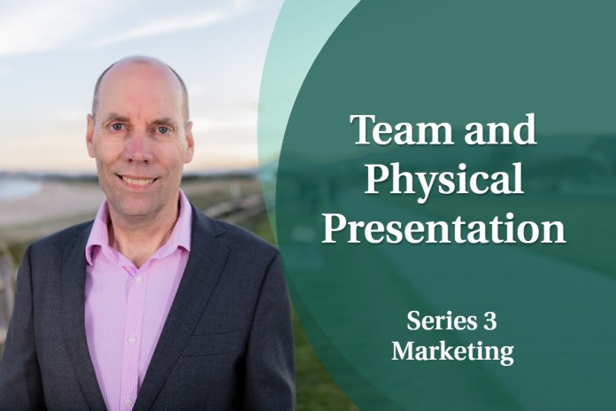 Business Coaching: Series Three - Team and Physical Presentation