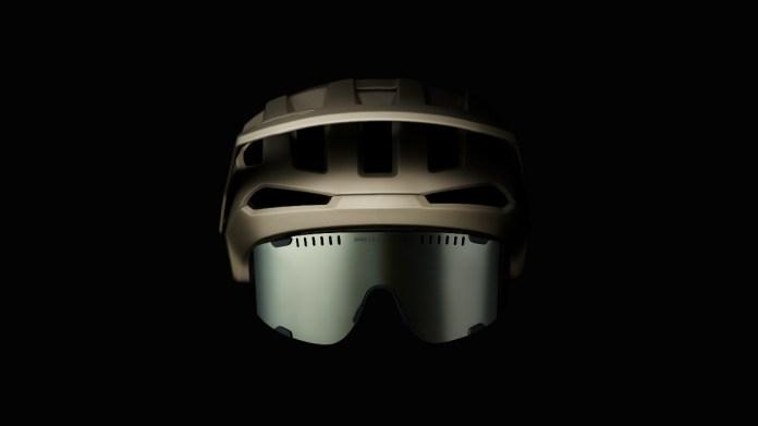 POC Kortal helmet and Devour sunglasses in Moonstone