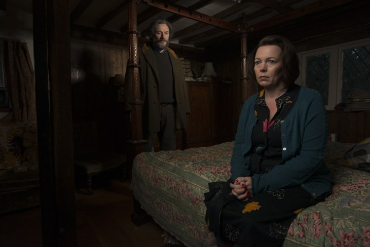 Julian Barratt and Olivia Colman in 'Flowers'