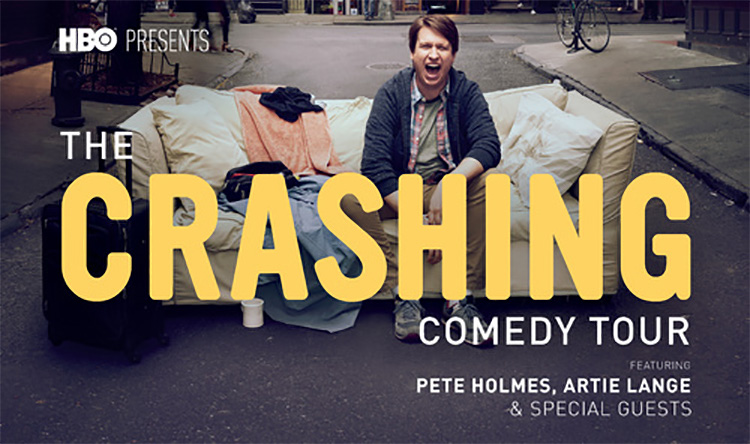 "Pete Holmes to promote new HBO show with ""The Crashing Comedy Tour,"" hitting the road with Artie Lange, Judd Apatow"