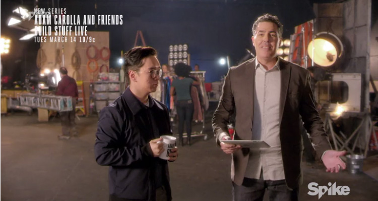 Take a look at Adam Carolla's new late night show on SpikeTV