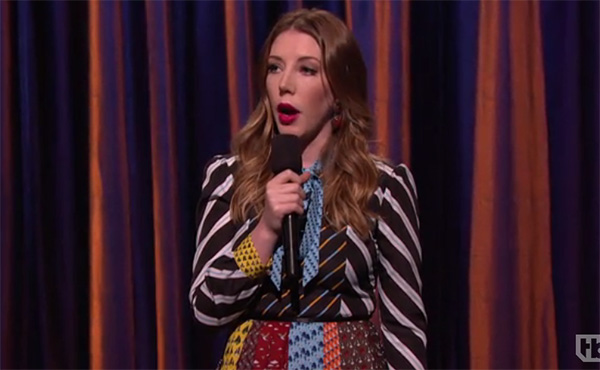 "Katherine Ryan on Conan, ""Having a British child is like having a tiny, ineffective butler"""