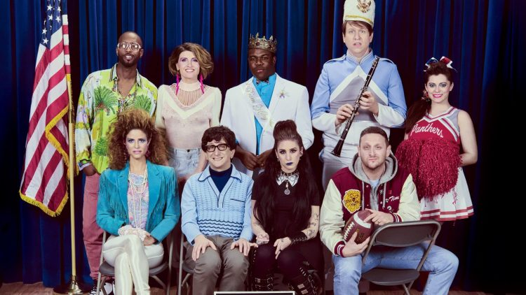 "GQ dressed their ""New Class of Comedians"" - including Pete Holmes and Rachel Bloom - up like high school nerds"