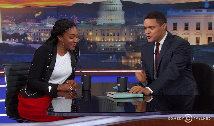 "Tiffany Haddish visited ""The Daily Show"" to talk about her new book"