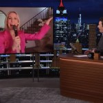 "Nikki Glaser deals with a wardrobe malfunction on ""The Tonight Show"""