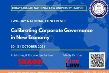 """Two-Day National Conference on """"Calibrating Corporate Governance in New Economy"""" - The Law Communicants"""