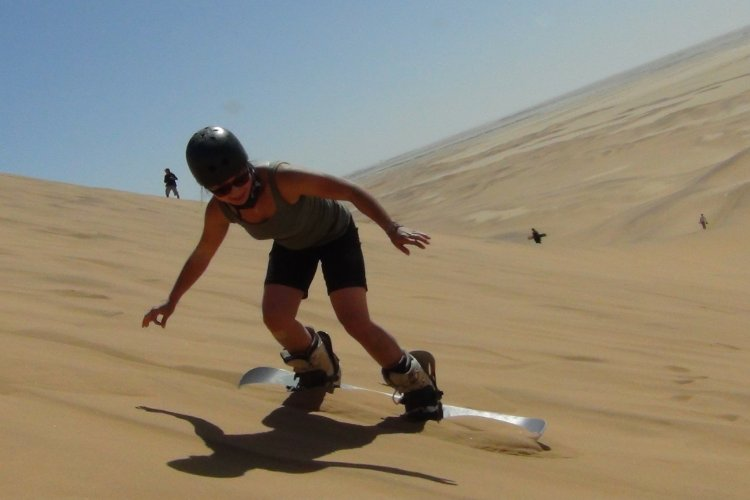 Stand up sandboarding with Alter-Action