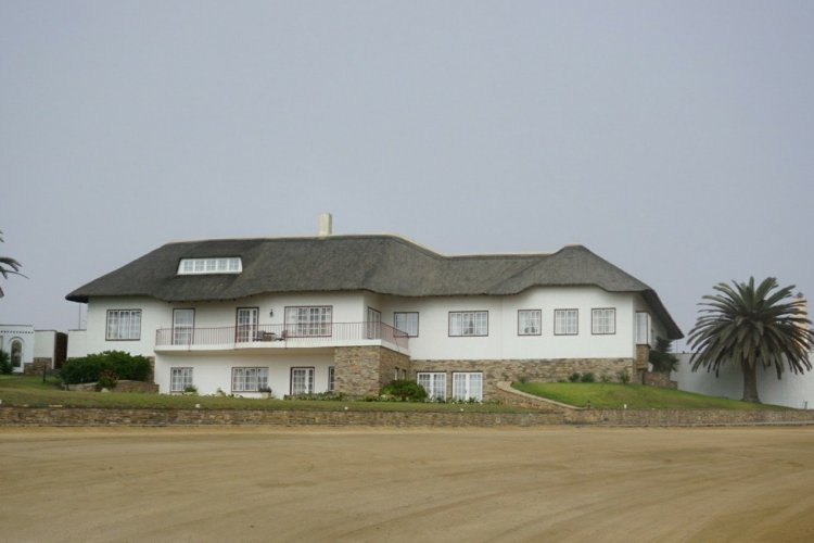 A mansion by the waterfront at Swakopmund