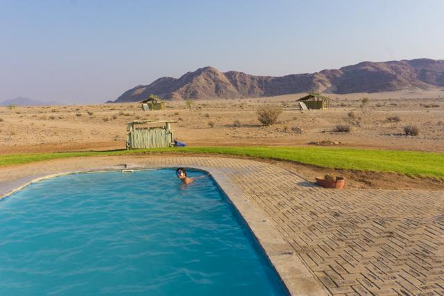 The pool at Sossus Oasis.