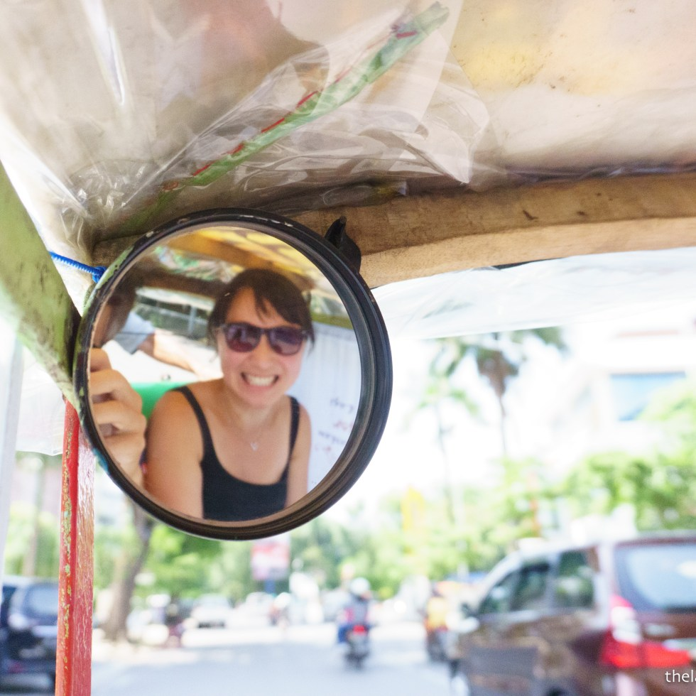 Becak ride in Makassar.