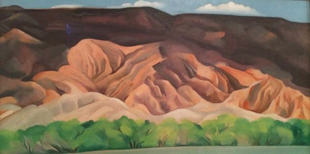 There are many paintings brought to Australia from The Georgia O'Keefe Museum in Santa Fe New Mexico.
