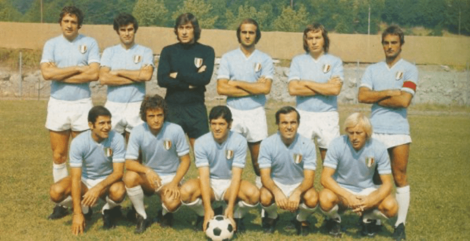 Lazio with the Scudetto Patch on their Kits for the First Time
