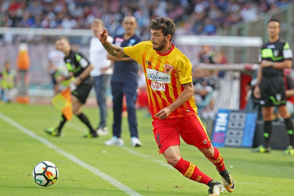 Danilo Cataldi playing for Benevento, Source- Viola Nation