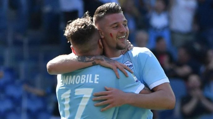 Lazio-Sampdoria Red Mark on Cheek, Source- Eurosport