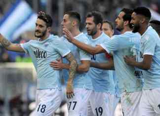 Lazio Celebrating after a goal in the Serie A