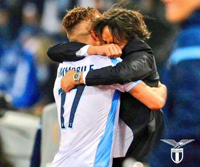 Ciro Immobile and Simone Inzaghi / S.S. Lazio, Source- Official S.S. Lazio