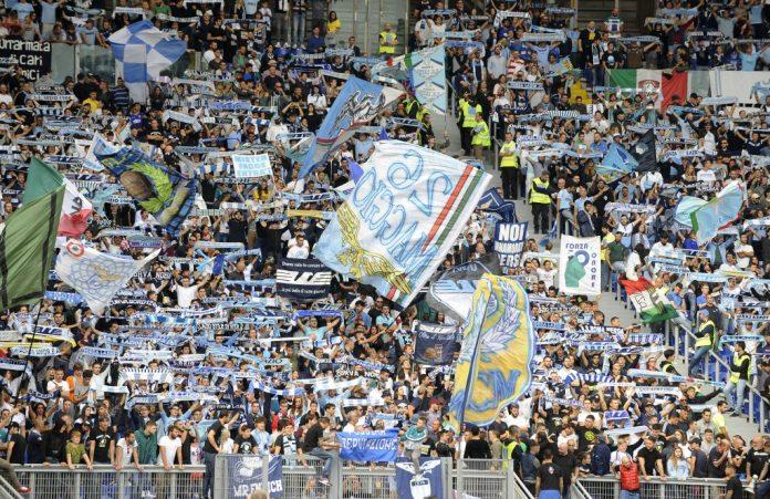 Lazio Fans in the Curva Nord