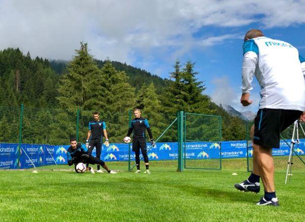 Lazio goalkeepers at Auronzo