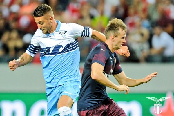 Milinkovic-Savic in a friendly match against Arsenal